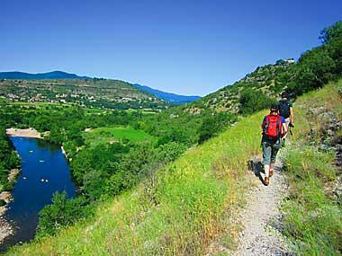 Wandern am Chassezac